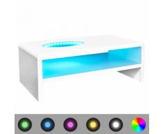 vidaXL Tavolino per Caffè Brillante con Luce a LED 42 cm