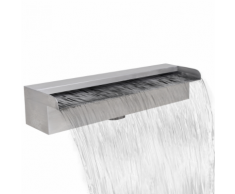 vidaXL Fontana a cascata da giardino rettangolare acciaio inossidabile 45 cm