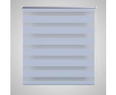 vidaXL Tenda a rullo oscurante zebra 100x175 bianca