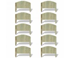 vidaXL Set 10 pz Palizzata recinzione giardino in legno 55 cm design ad arco