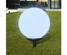 vidaXL Lampione solare a LED da giardino 40cm 1pz con picchetto