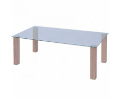 vidaXL Tavolino da Caffè in Vetro 120x60x43 cm
