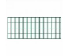 vidaXL 2D Pannello di Recinzione Giardino 2008x830 mm 28 m Verde