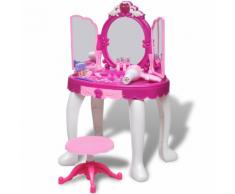 vidaXL Giochi Da Camera Per Bambini Tavolo Cosmetica 3 Specchi Con Luci/Suoni