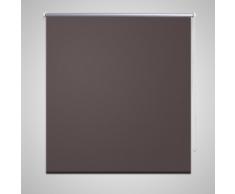 vidaXL Tenda a rullo oscurante buio totale 80 x 175 cm caffè