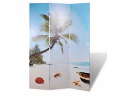vidaXL Parete divisoria privacy divisorio 120 x 180 spiaggia