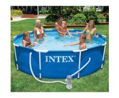 Intex 28212GN Piscina con telaio di metallo 366 x 76 cm