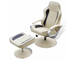 vidaXL Poltrona reclinabile di pelle artificiale con poggiapiedi marrone