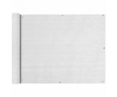vidaXL Paravento da Balcone HDPE 90x600 cm Bianco