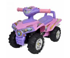 vidaXL Quad cavalcabile per bambini rosa e viola con suoni luci