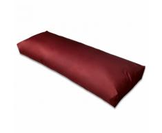 vidaXL Cuscino di appoggio imbottito rosso vino 120 x 40 20 cm