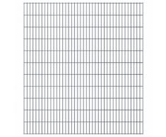 vidaXL Set Pannelli recinzione giardino 2D 2008x2230 mm 28 m grigio