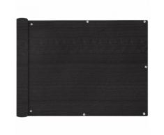 vidaXL Paravento da Balcone HDPE 90x600 cm Antracite