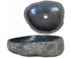 vidaXL Lavandino Ovale in Pietra del Fiume 30 cm