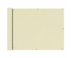 vidaXL Tenda da sole per balcone in tessuto Oxford 90 x 600 cm crema