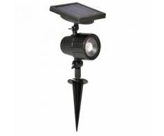 Luxform Faretto LED da Giardino a Energia Solare Cannes Nero 44109