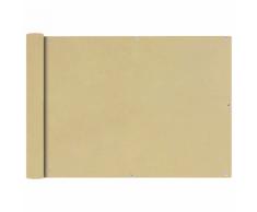 vidaXL Tenda da sole per balcone in tessuto Oxford 75 x 400 cm beige