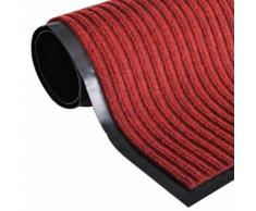 vidaXL Zerbino Rosso PVC 90 x 120 cm