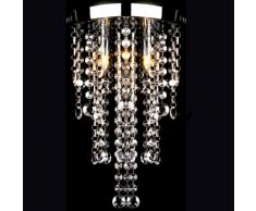 vidaXL Lampada da Soffitto Bianca in Metallo con Perline Cristallo