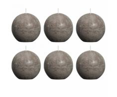 Bolsius Candela Sfera Rustica 80 mm Talpa set di 6 pezzi