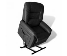 vidaXL Poltrona nera reclinabile con posizione aggiustabile seggiovia