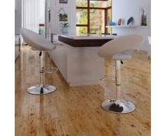 vidaXL 2 x Sgabello-poltroncina cucina o bar bianco