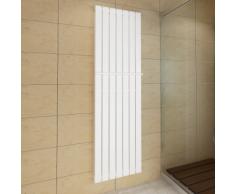 vidaXL Termosifone porta asciugamani 542 mm +Radiatore bianco Doppio