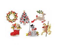 3 spille: Renna, corona natalizia, calza di Natale