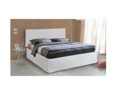 Testata letto con rete a doghe: 160 x 190 cm / Tortora / Senza materasso