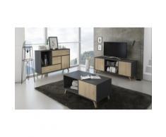 Mobili da soggiorno: Mobile TV 92 / Grigio / Quercia