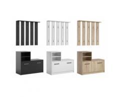 Set di mobili da ingresso Amber: Nero / Scarpiera