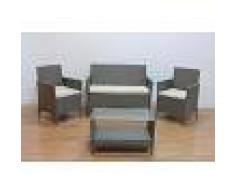 Arredo Giardino Salotto Da Giardino Modello In Kit 'Minorca' Jrs-376e Composto Da 4 Pz Codice 94788 Colore Grey