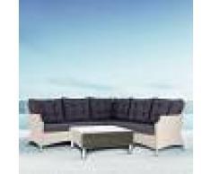 Salotto Da Giardino Ad Angolo Modello Tasmania/everton Composto Da 4 Pz Codice 92004