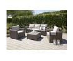 Arredo Giardino Set Salotto Da Giardino Modello Allibert 'California' Composto Da 6 Pz Colore Graphite
