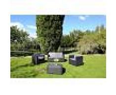 Arredo Giardino Salotto Da Giardino Modello 'Capri' Composto Da 4 Pz Codice 16294 Colore Antracite