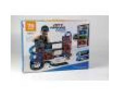 ODG Box Garage 3 Piani Set Gioco Garage E Pista Macchine Per Bambini 75 Pezzi