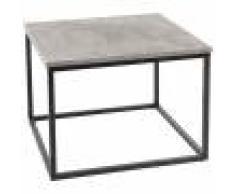 JYSK Tavolino da salotto DOKKEDAL (60x60, nero / cemento)