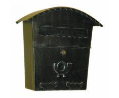 6015 Cassetta della Posta con Chiusura Curva in Ferro Battuto Artigianale Lorenz