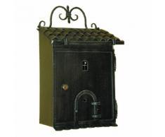 6016 Cassetta della Posta Forma di Casetta in Ferro Battuto Artigianale Lorenz