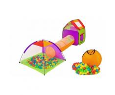 Tenda ad igloo con tunnel e 200 palline da gioco Bakaji