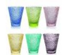 IVV Set 6 bicchieri acqua IROKO multicolor