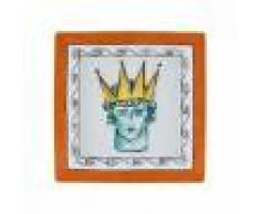 Richard Ginori svuotatasche quadrato Rock Orange grande 24.5cm Il viaggio di Nettuno