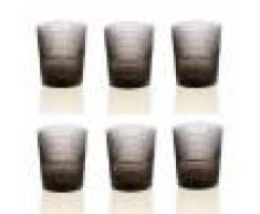 IVV Set 6 bicchieri acqua Speedy grigio bronzo