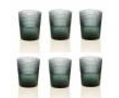 IVV Set 6 bicchieri acqua Speedy verde pavone