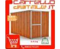 Box in Acciaio Zincato Casetta da Giardino in Lamiera 1.75 x 3.07 m x h1.82 m - 95 KG - 5,4 metri quadri - LEGNO
