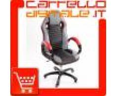 Poltrona da Ufficio Presidenziale - Mod. Sport Racing - ideale per Gaming - Rossa