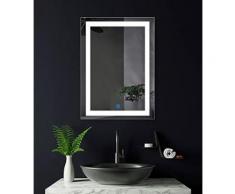 Specchio Rettangolare luminosa LED 36W 660x450mm accensione Touch