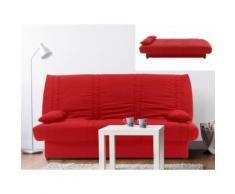 Divano letto clic clac con contenitore portaoggetti in tessuto Rosso - FARWEST