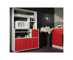 Mobiletto da cucina su ruote ASTRID - Colore rosso