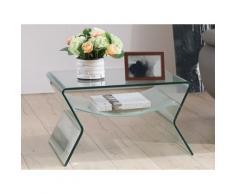 Tavolino quadrato con Doppio piano in Vetro temperato - SIERRA